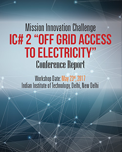 "Report on ""Off-Grid Access to Electricity Innovation"" Challenge"