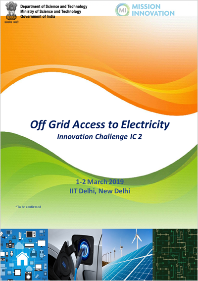 Second International Meeting on Off grid access to electricity Innovation Challenge during March 1-2 March 2019 in New Delhi, India